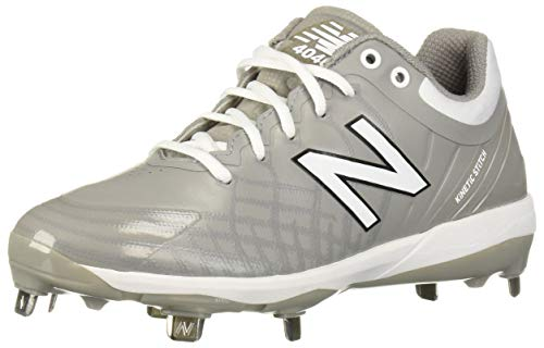 New Balance Men's 4040v5 Metal Baseball Shoe, Grey/White, 11.5 W US
