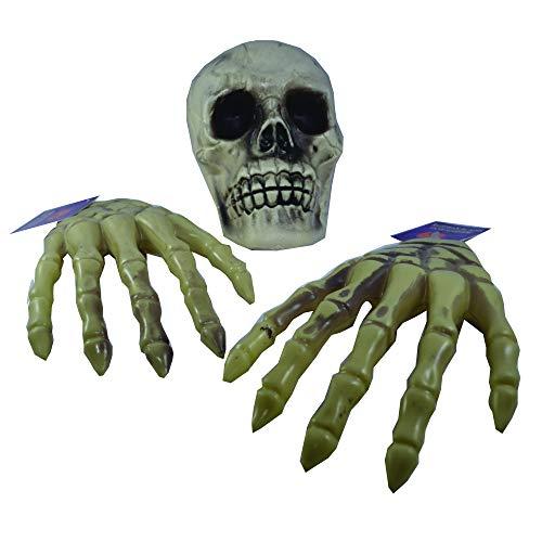 Greenbrier International Halloween Decorations Decor Skull Skeleton Hands Bones Scary Spooky Set of ()