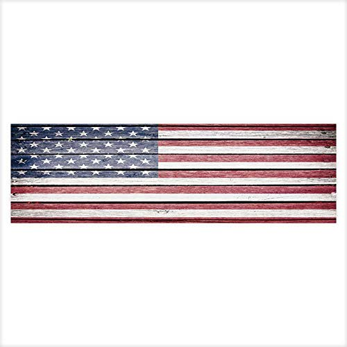 (Jiahong Pan Background Poster USA,American Flag Painted on Old Wood Plank Background PVC Aquarium Decorative Paper 29.5