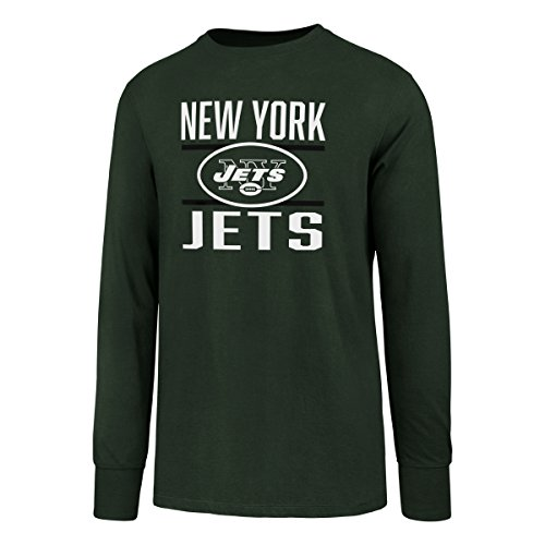 NFL New York Jets Men's OTS Rival Long Sleeve Tee, Dark Green, Large