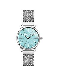 Thomas Sabo WA0343-201-215-33 - Reloj analógico de cuarzo para mujer con correa de acero inoxidable