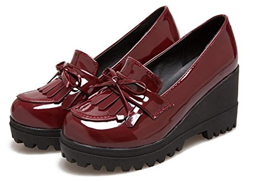 Pictures of Wedge Oxfords Shoes Women Girls Tassels Lolita 2
