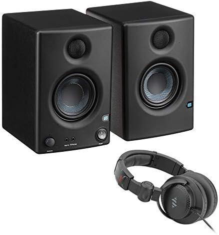 PreSonus Eris E3.5 3.5″ 2-Approach 25W Nearfield Screens (Pair) with Polsen HPC-A30-MK2 Studio Headphones Bundle
