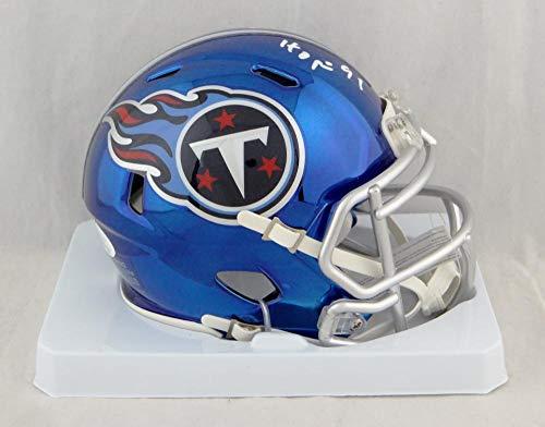 Earl Campbell Autographed Tennessee Titans Chrome Mini Helmet w/HOF- JSA W Auth Silver ()