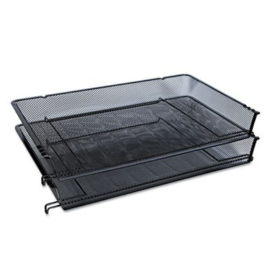 - Universal One Mesh Stackable Side Load Tray, Legal, Black