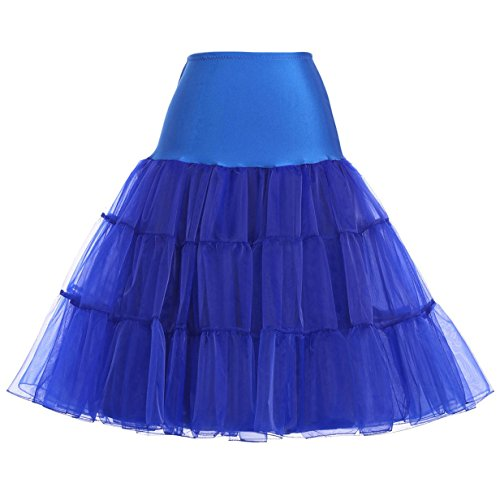 Plus Size Puffy Petticoat Slips Variety of Colors (Royal -