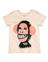 AKI & AIKO Organic Cotton Count Vinnie Half Sleeve Kids T-Shirt (2-7T)