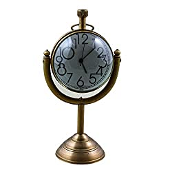 Christmas Gifts Decorative Desk & Shelf Clocks Vintage Style, 5.1 Inches for Office, Home & Kitchen