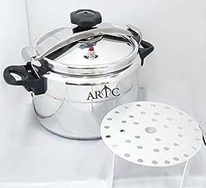 ARTC Aluminium Pressure Cooker With Special Rack - 15Ltr