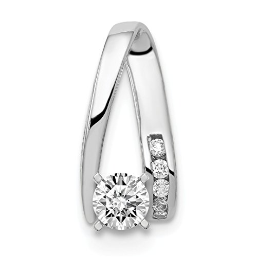 ICE CARATS 14kt White Gold Diamond Slide Necklace Pendant Charm Omega Fine Jewelry Ideal Gifts For Women Gift Set From ()