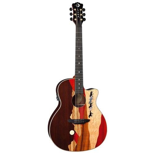Luna Guitars Vista Mustang Tropical Wood RSW Back Acoustic-E