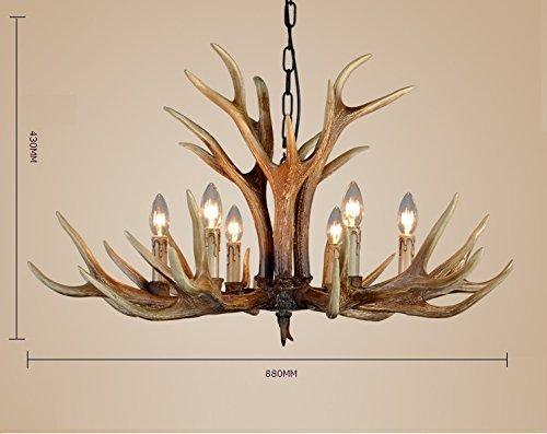 Kronleuchter Geweih ~ Effort inc antlers vintage stil harz licht kronleuchter