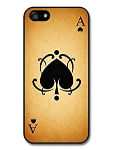 AMAF ? Accessories Ace of Hearts Card print case for iPhone 5 5S