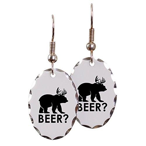 Earring Oval Charm Deer Plus Bear Equals BEER!