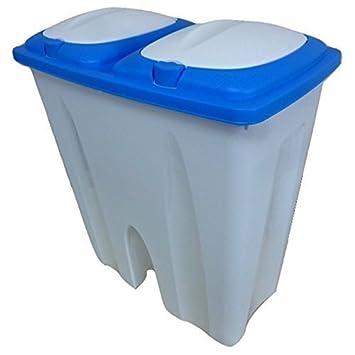 50L Doppel Recycling Mülleimer Duo Müll Karton Plastik Verfügung