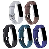 Compatible Fitbit Alta Bands, UMAXGET Silicone Sport Replacement Wristband with Metal Buckle Compatible Fitbit Alta/Alta HR Multi Pack