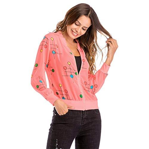 Zipper Hauts À D'hiver Rose Outwear Dames Mode Capuche Set Soie Pardessus Et Pois Sweat Casual Manches Taille Medium Rayé Femmes Pink De Hot coloré Longues Automne Mousseline YRxwXAn