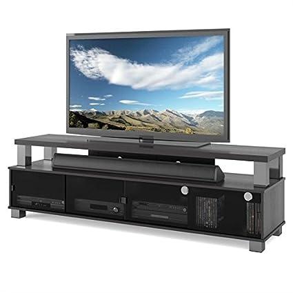 Amazon Com Bowery Hill 75 Tv Stand In Ravenwood Black Kitchen