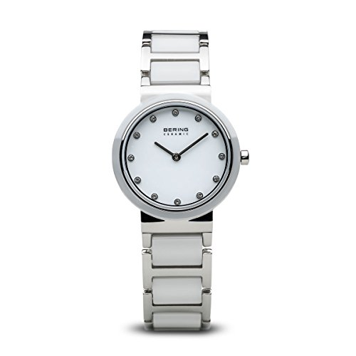 BERING Time 10729-754 Womens Ceramic Collection Watch with Stainless Steel Band and Scratch Resistant Sapphire Crystal. Designed in Denmark.