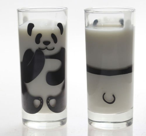 1 of Stylish Transparent Panda Glass Cup for Milk Cute Home Decoration - Glass Panda