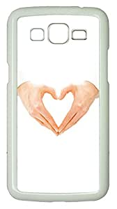 Samsung 2 7106 Case Gestures And Heart shaped PC Samsung 2 7106 Case Cover White