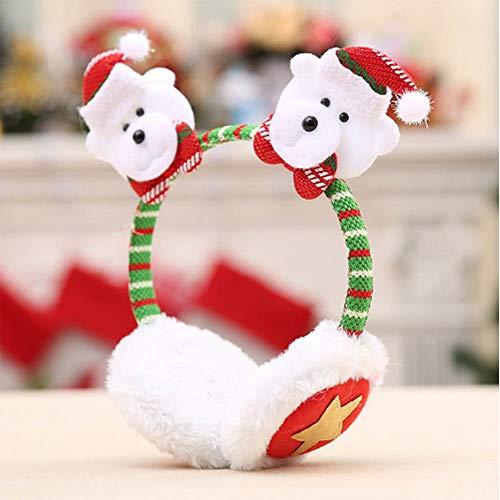 - Plastic Crown - Christmas Snowman Headband Earmuffs Hairpin Santa Claus Adult Children Warm Hair Bands Ear Clip - Women Crown Accessory Tiara Hair Crown Clip Hair Headband Baby Girl Bow Korean Ha