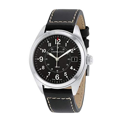 Hamilton Mens Quartz - Hamilton Men's Analogue Quartz Watch with Leather Strap H68551733