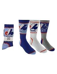 Montreal Expos Boys 3-Pack Socks