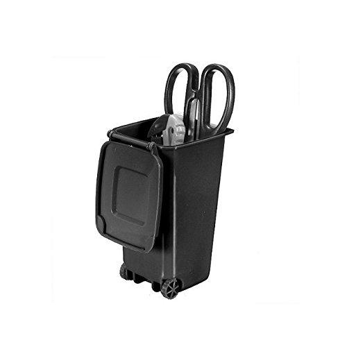 SPHTOEO Trash Can and Recycling Mini Storage Bin Pen Holder (Black)