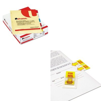 KITUNV20830UNV99005 - Value Kit - Universal Economical Insertable Index (UNV20830) and Universal Arrow Page Flags (UNV99005)
