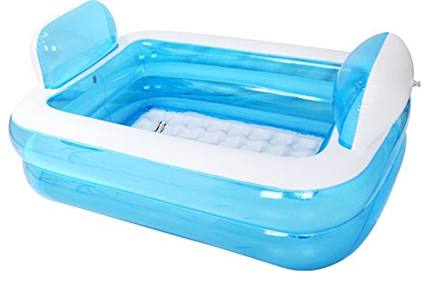 Double Inflatable Bathtub Thicker Adult Warm Tub Fold
