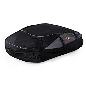 Wisamic Waterproof Car Roof Cargo Bag 30 Cubic Feet Car Roof Top Carrier Soft Rooftop Luggage Carriers with Wide Straps-Large