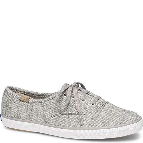 Keds Champion Stripe - Keds Women's Champion Twill Stripe Jersey Sneaker,Light Gray,8 M US