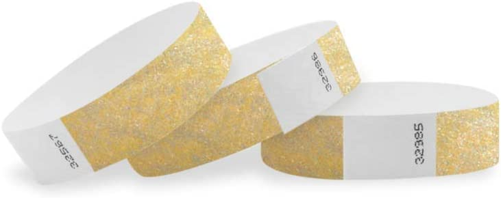 """PAPER WRISTBAND WRISTBANDS FOR EVENT 100 3//4/"""" METALLIC SILVER TYVEK WRISTBANDS"""