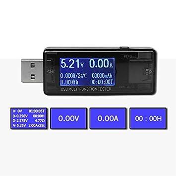 Detector USB multifunción para teléfono móvil, protector de carga, USB, corriente y voltaje de prueba, comprobador de voltaje USB: Amazon.es: Electrónica