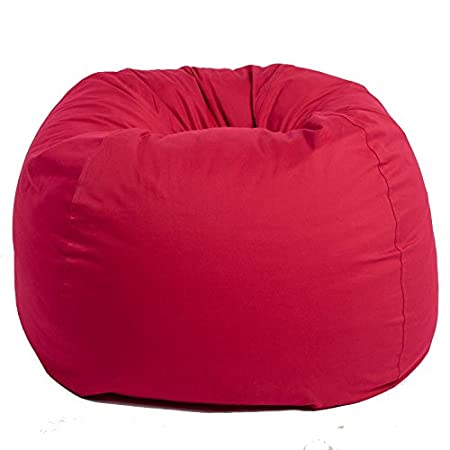 Mybeanbag Chair Adult Round Twill, Red My Beanbag