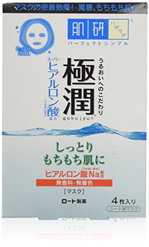 Rohto Hadarabo Gokujun Hyaluronic Face Mask 4 sheets