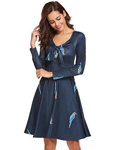 Kleid wickeloptik langarm