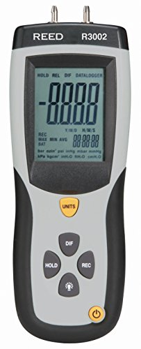 - REED Instruments R3002 Digital Manometer, Gauge/Differential, 5psi