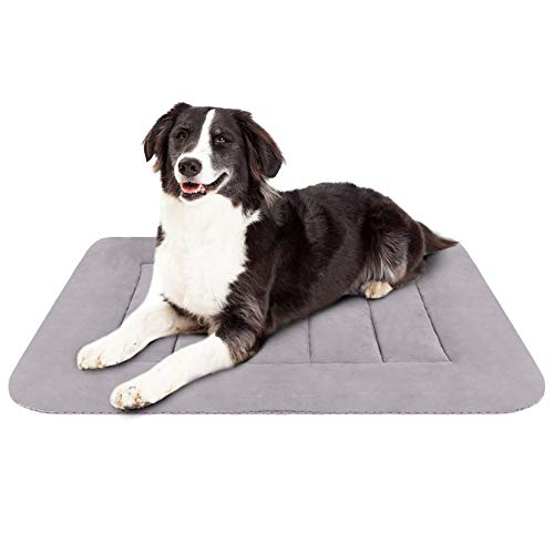 (Hero Dog Medium Dog Bed 35 inch Crate Pad Washable Non Slip Pet Beds for Sleeping Grey M)