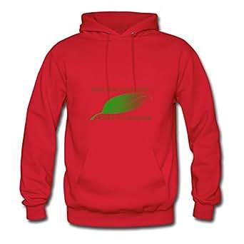 X-large Custom-made Women Sweatshirts Leaf Design Go Green 1 By Erinwood Red