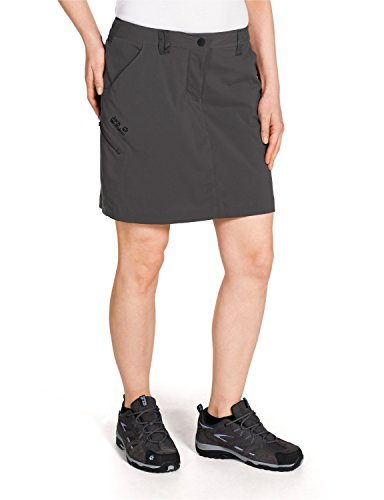 Jack Wolfskin Damen Rock Norrish Flex Skort, Dark Steel, 36, 1502961-6032036