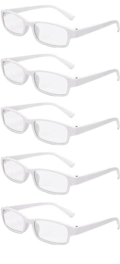 b37b140846 4sold Gafas de Lectura Presbicia Vista Cansada - (Pack 5) Graduadas fde 0.5  a 4.00 Dioptrías Montura de Pasta Azul Marrón Negra Carey Diseño Moda  Hombre ...