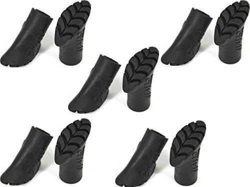 10 Stück ASPHALTPADS 14 mm GUMMIPUFFER für Nordic Walking Stöcke Ersatzfüße ~cf80009 QM