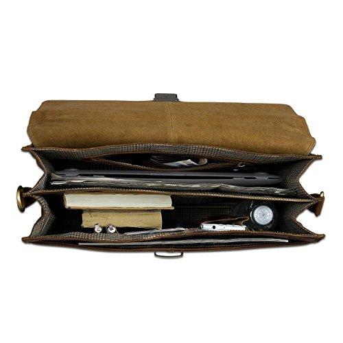 STILORD clásico maletín de piel para hombres business bag Vintage Piel auténtico de color marrón