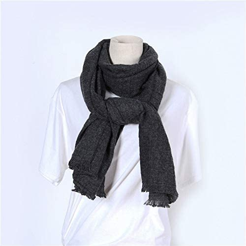 AODEK Monochrome Scarf Fashion Imitation Cashmere Tassel Plaid Scarf Ladies Warm Scarf