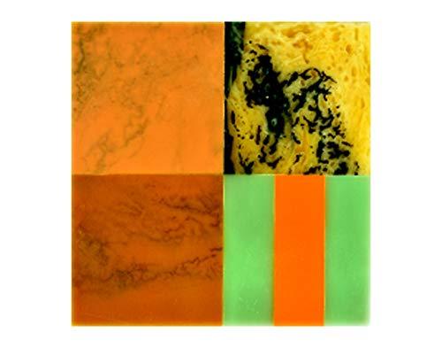 ドリンクコースター 正方形ドリンクコースター - 樹脂&MDF - マルチカラー - バー/ダイニングアクセサリー Pack of 6 Pack of 6  B07L32PNZB