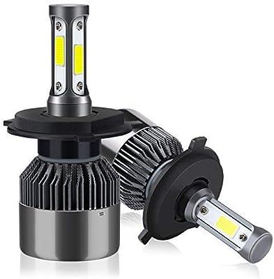 H4/HB2/9003 LED Faros Delanteros Bombillas de Coches 8000LM 6000K, 2 Lámparas