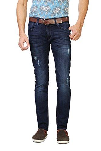 V Dot Men's Formal Trousers (8907355824539_VDDN316D03932_34W x 32L_Dark Blue Solid)