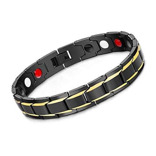 Axmerdal Titanium Magnetic Therapy Health Bracelet - 2019 New Pure Row 4 Elements Magnetic Therapy Bracelets